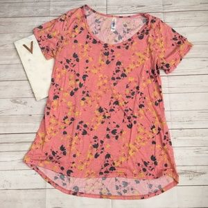 lularoe womens s the classic tee pink floral femin